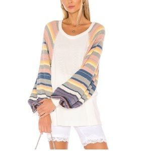 Free people Rainbow Dreams oversized knit sweater.